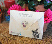 Mad Hatter Wonderland Tea Party Envelope Invitation
