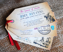 Load image into Gallery viewer, Mad Hatter Wonderland Tea Party Tag Invitation