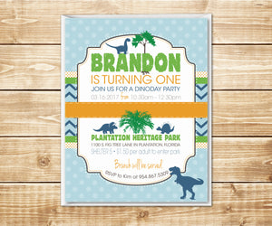 Dino Day Dinosaur Birthday Invitation