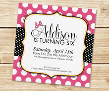 Load image into Gallery viewer, Classic Polka Dot Invitation