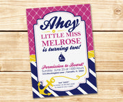Preppy Nautical Invitation
