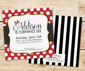 Classic Polka Dot Photo Invitation