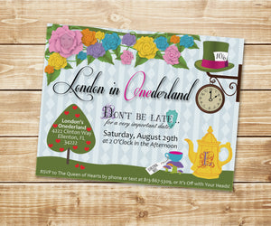 Alice in Wonderland (Onederland) Unbirthday Invitation