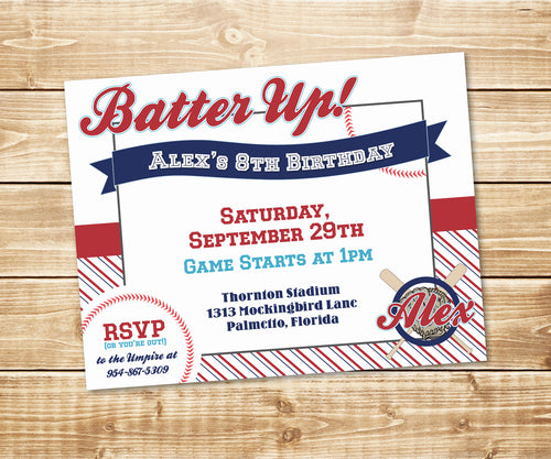 Batter Up! Little Slugger Baseball Invitation