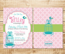 Load image into Gallery viewer, Little Bird Birthday Invitation