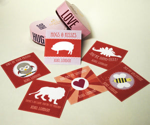 Kids' Red and Pink Valentine Exchange Cards