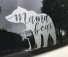 Mama (Momma) Bear Etched Glass Sticker