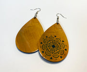 Mandala of Love Teardrop Earrings