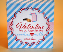 Load image into Gallery viewer, Cookies & Milk Valentines Milk Carton, Set of 6