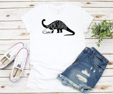 Load image into Gallery viewer, Mommasaurus Long Neck Dinosaur T-Shirt