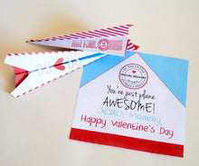 Load image into Gallery viewer, Just Plane Awesome Paper Airplane Valentine