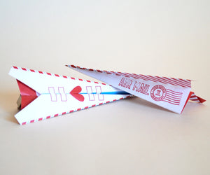Just Plane Awesome Paper Airplane Valentine