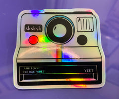 Polaroid Camera Hologram Sticker