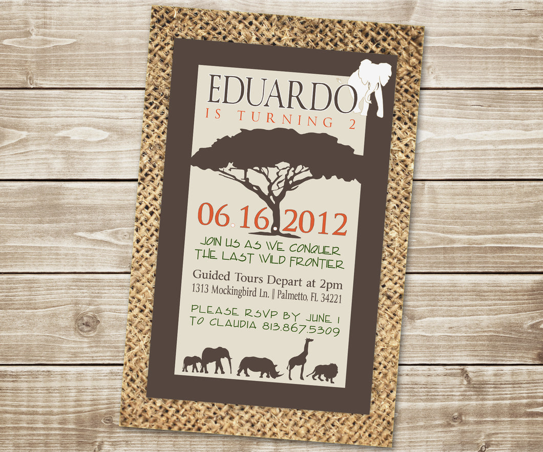 Safari Poster Invitation