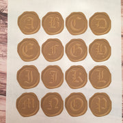 "Set of 48 ""Wax Seal"" Stickers"