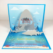Under the Sea Shark Popup 3D Invitation