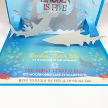 Load image into Gallery viewer, Under the Sea Shark Popup 3D Invitation
