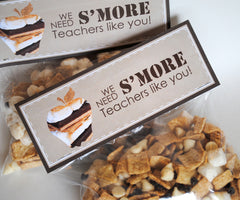 S'mores Teachers Treat Bag Toppers