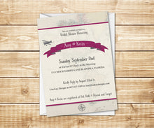 Load image into Gallery viewer, Vintage Travel Bridal Shower Invitation