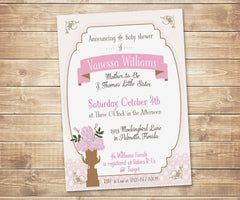 Antique Chic Lace & Roses Invitation