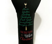 Dreaming of a White Christmas Wine Tote