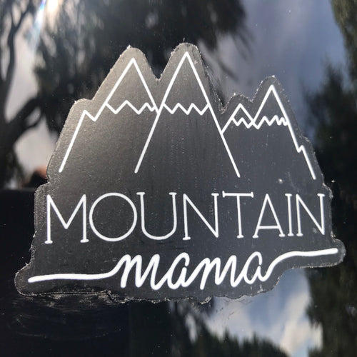 Mountain Mama Clear Sticker