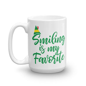 Smiling Is My Favorite Christmas Mug