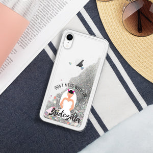 Bridezilla Liquid Glitter iPhone Case