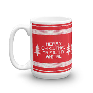 Merry Christmas Ya Filthy Animal Ugly Sweater Mug