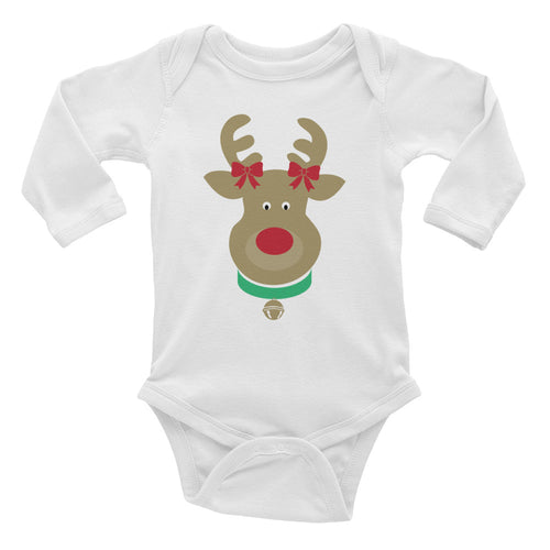 Baby Reindeer Long Sleeve Bodysuit