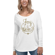Load image into Gallery viewer, Ladies' Long Sleeve Joy to the World Christmas Shirt