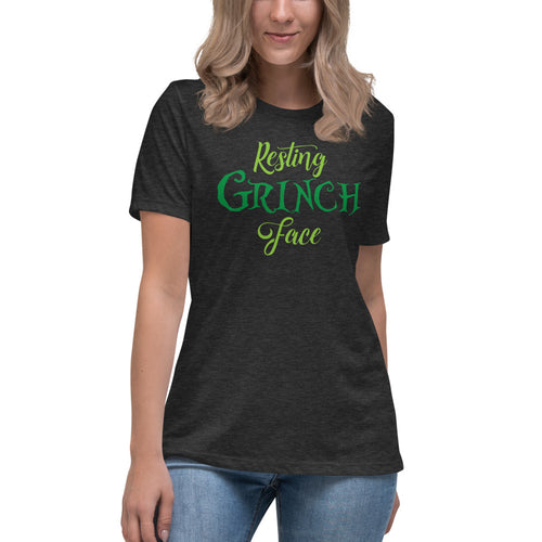 Resting Grinch Face Ladies' Shirt