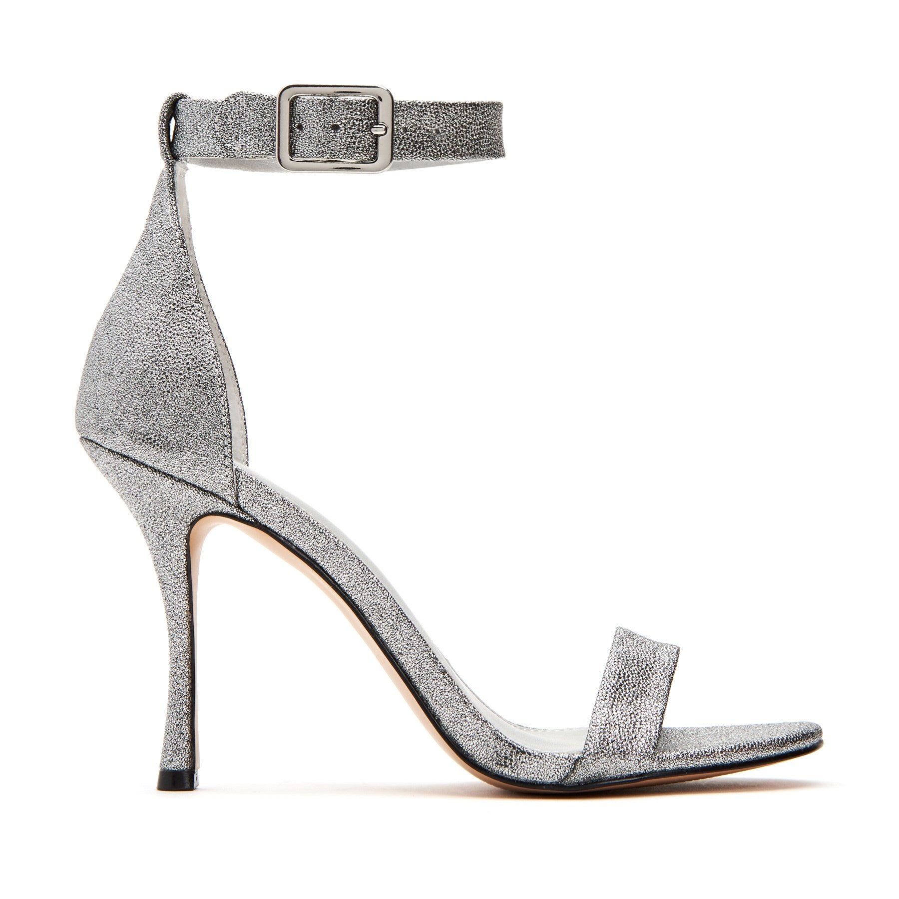 katy perry strappy sandal in silver size 6   the melly
