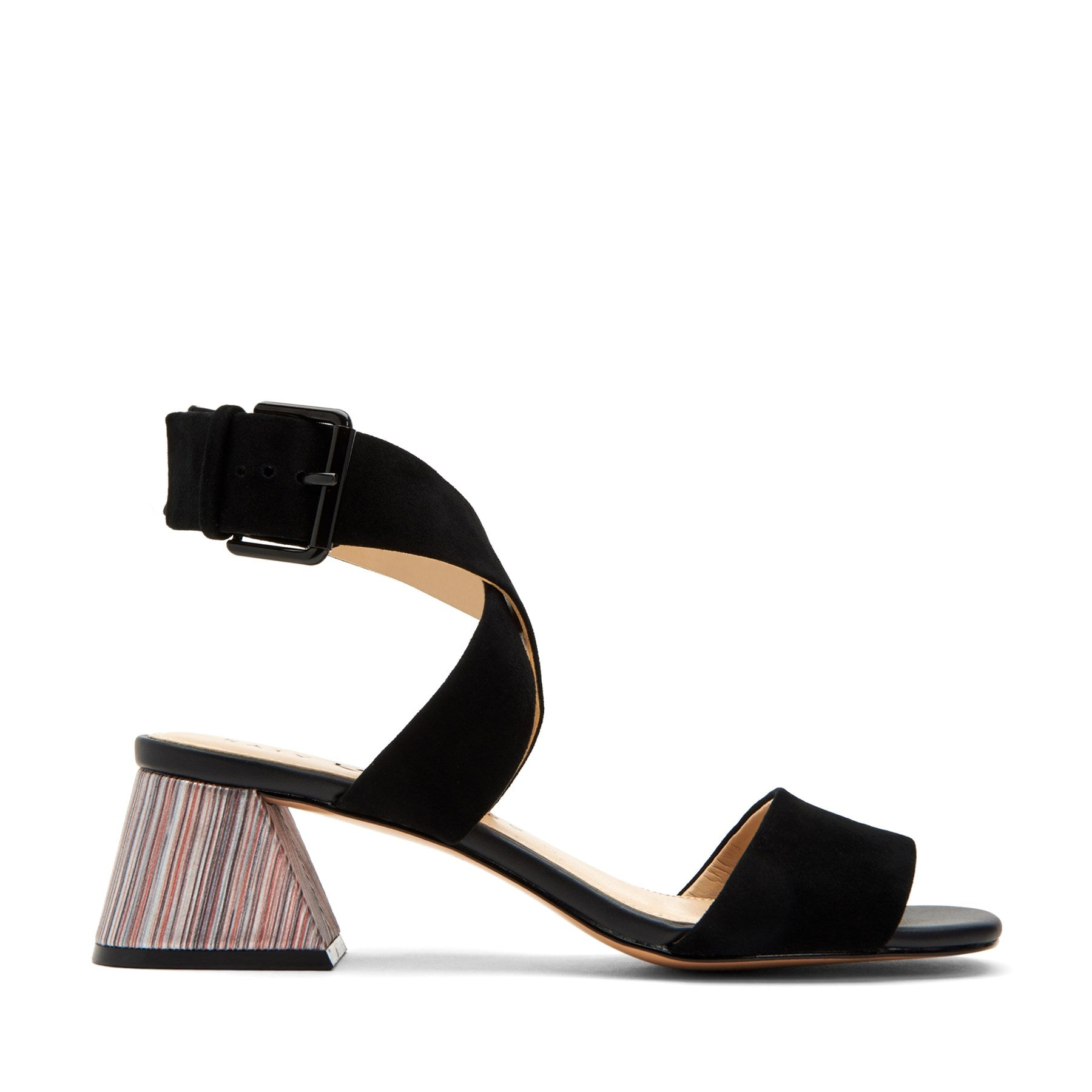 katy perry heeled sandal in black size 6 | the albee