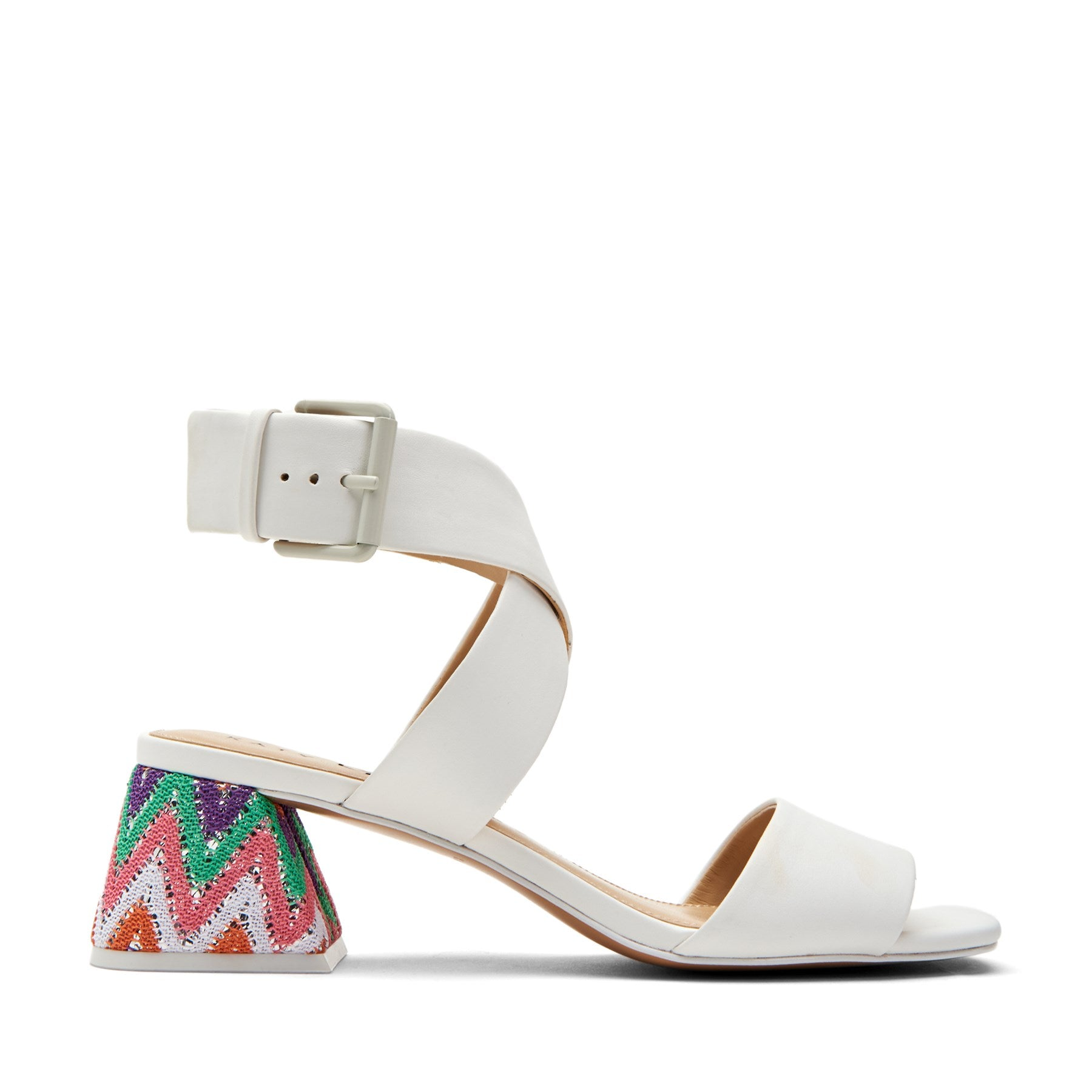 katy perry heeled sandal in white size 5.5 | the albee