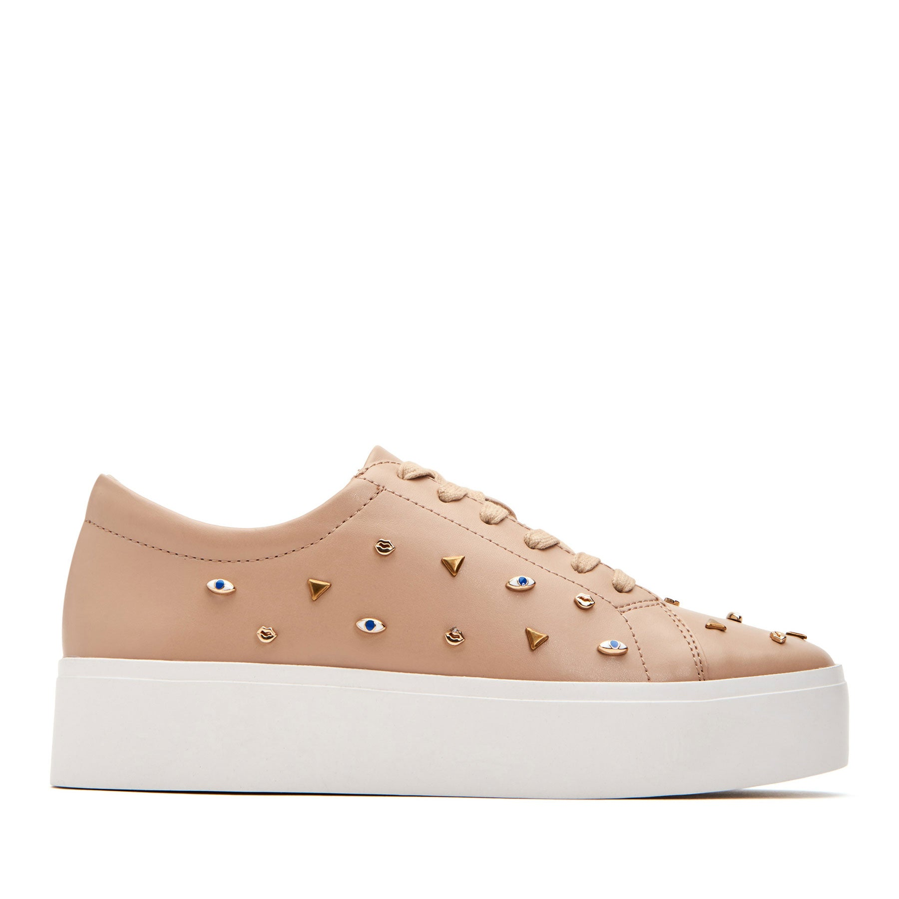 katy perry platform sneaker nappa leather in nude size 8.5   the dylan
