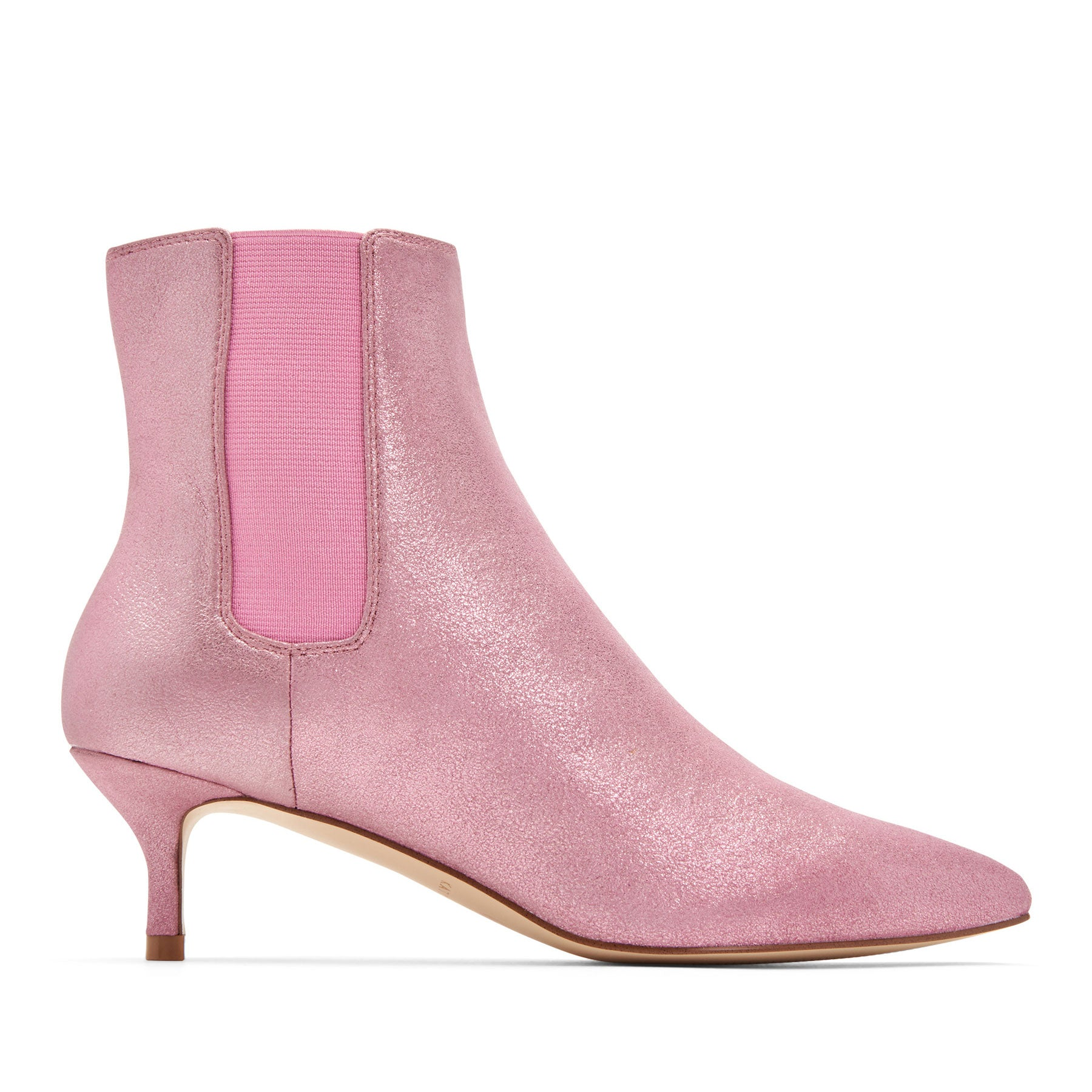 katy perry heeled boot metallic in pink size 6   the joan