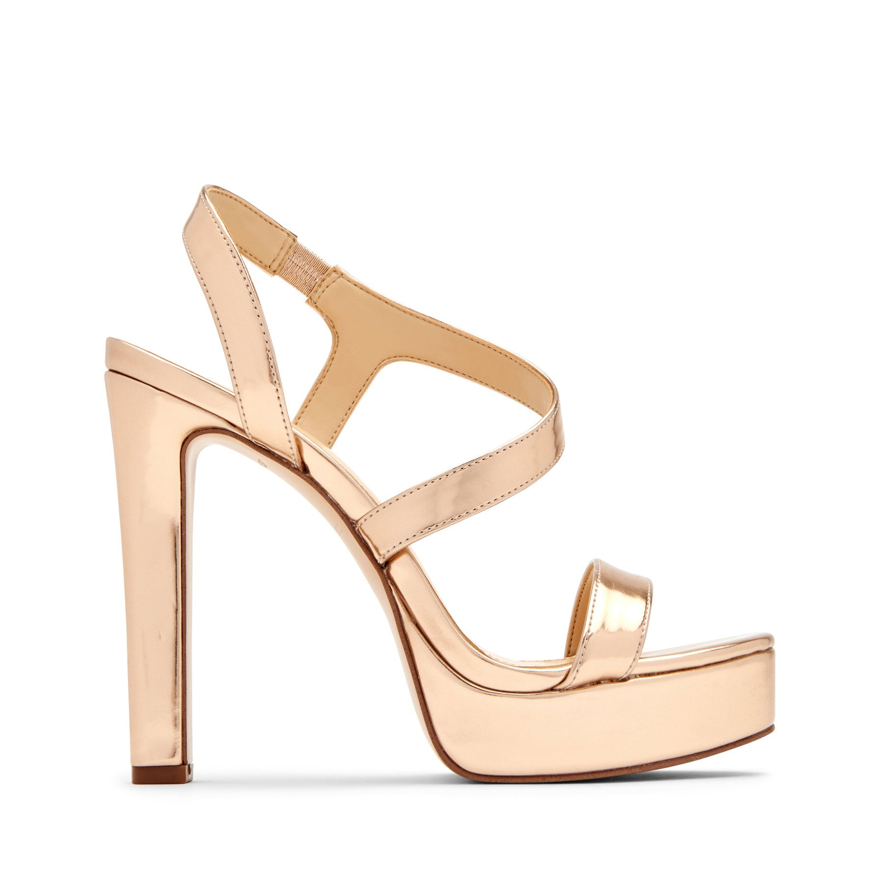 katy perry strappy sandal metallic in champagne size 8   the naomi