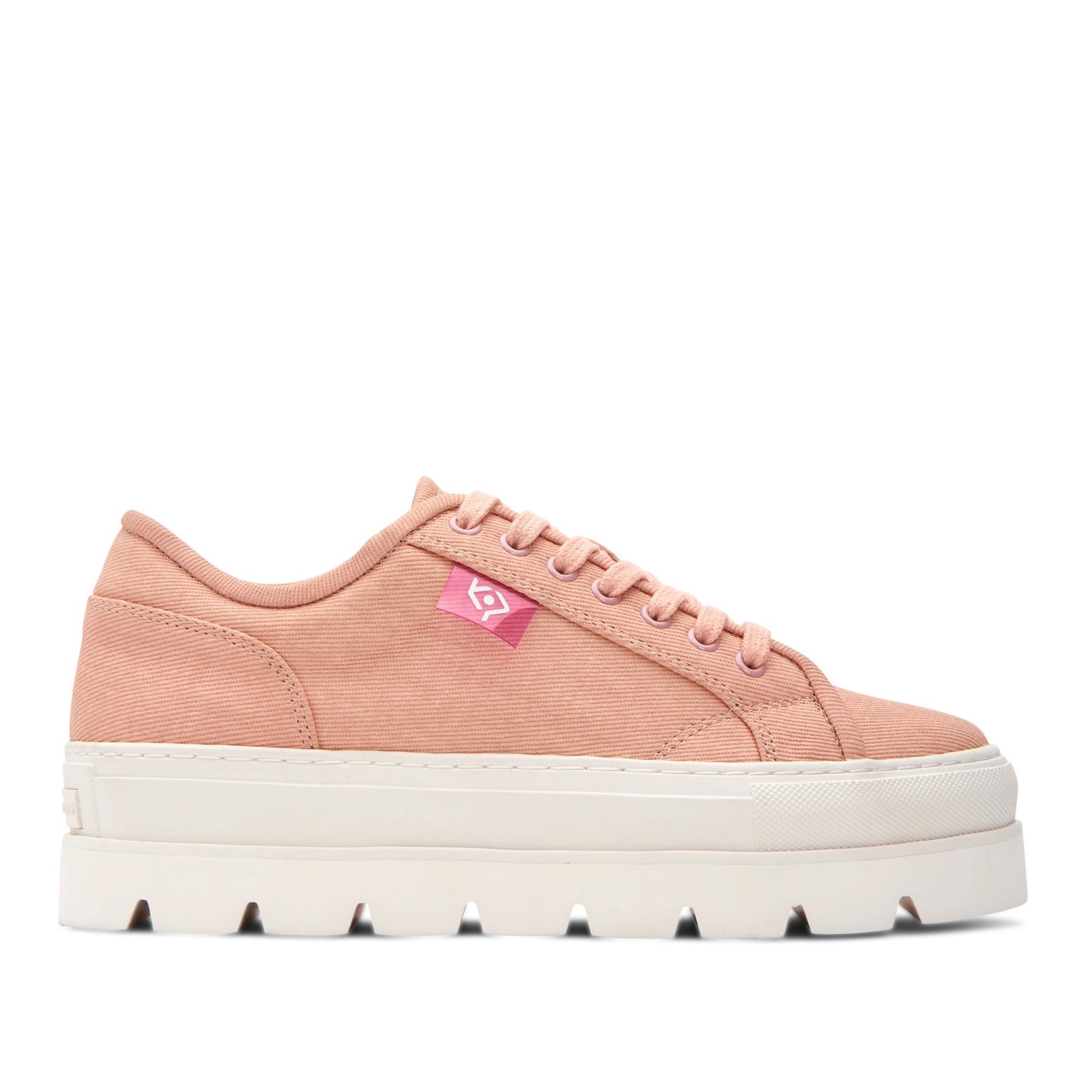katy perry platform sneaker canvas in rose quartz size 5.5 | the cape