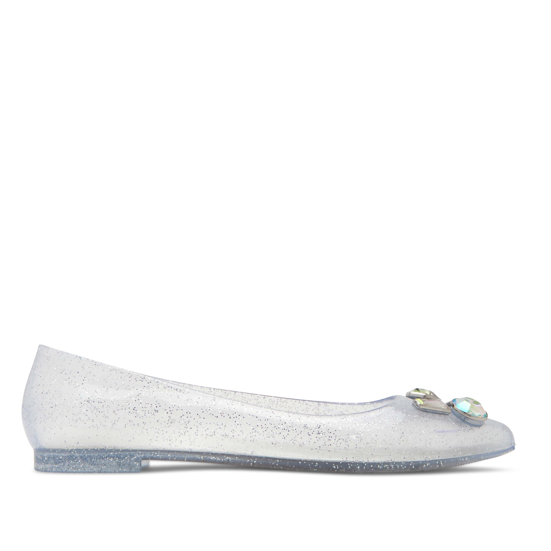 katy perry flat in clear/black size 5   the princess