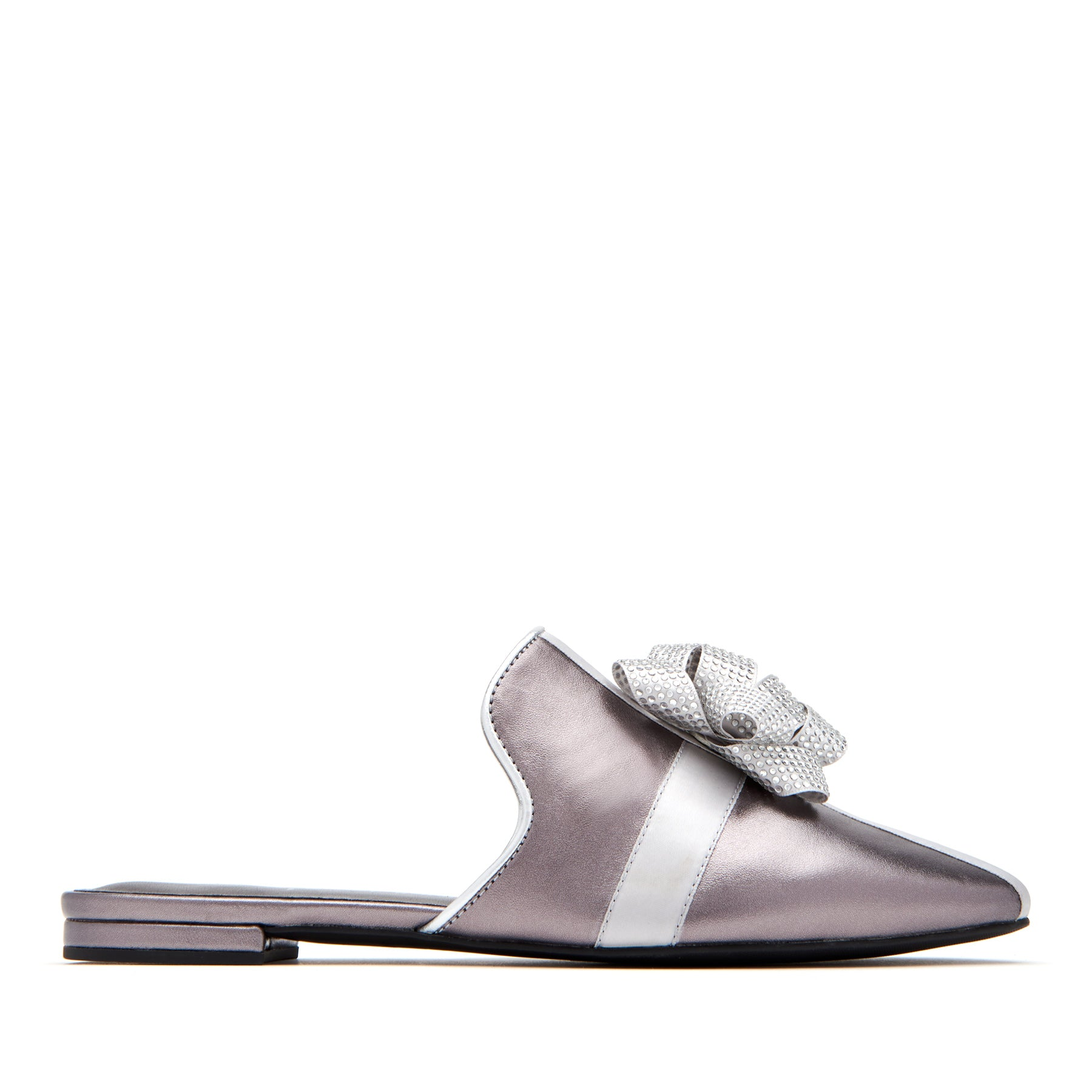 katy perry slip-on sandal in gunmetal size 5 | the stephanie