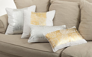 Metallic Banded Pillow
