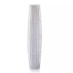 Varzea White Rattan Light