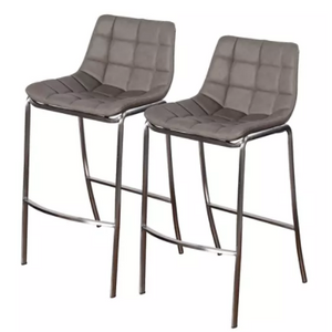 Light Tufts Gray Bar Stool
