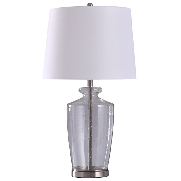 White/Glass Table Lamp