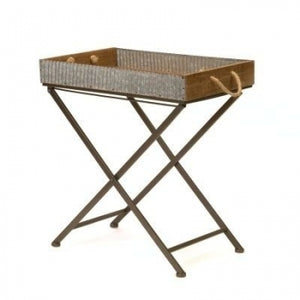 Wood/ Metal Folding Table