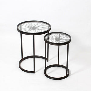 Bicycle Wheel Nesting Tables