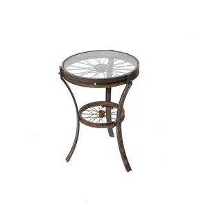Bicycle Wheel Uni End Table
