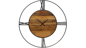 Metal & Wood Wall Clock