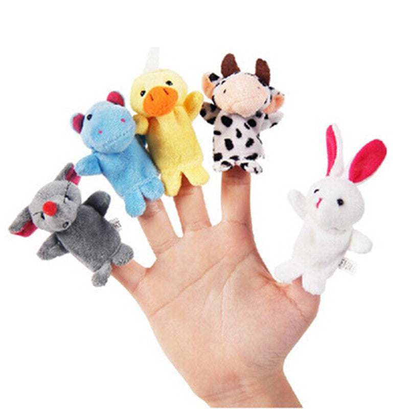 10 Pieces baby Plush Toy Finger Puppets Story Teller Toys